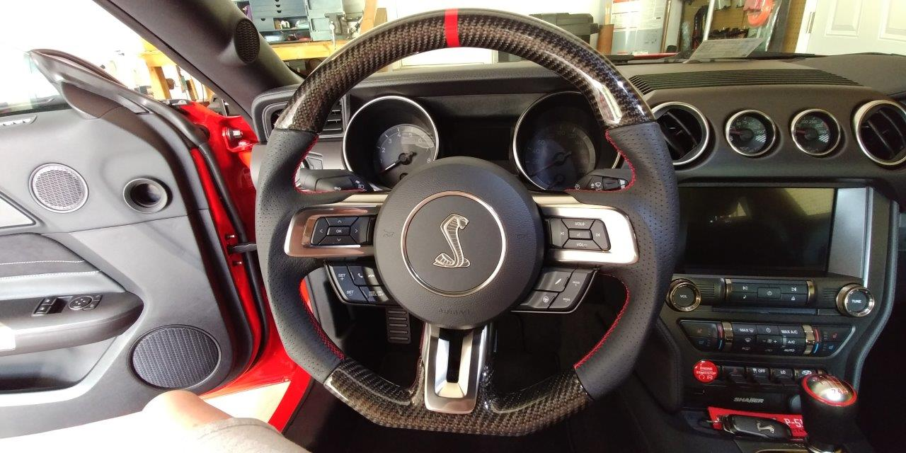 2015 Ford Mustang Gt For Sale >> 2015-2016 Mustang Ford Steering Wheel GT350 Leather And ...