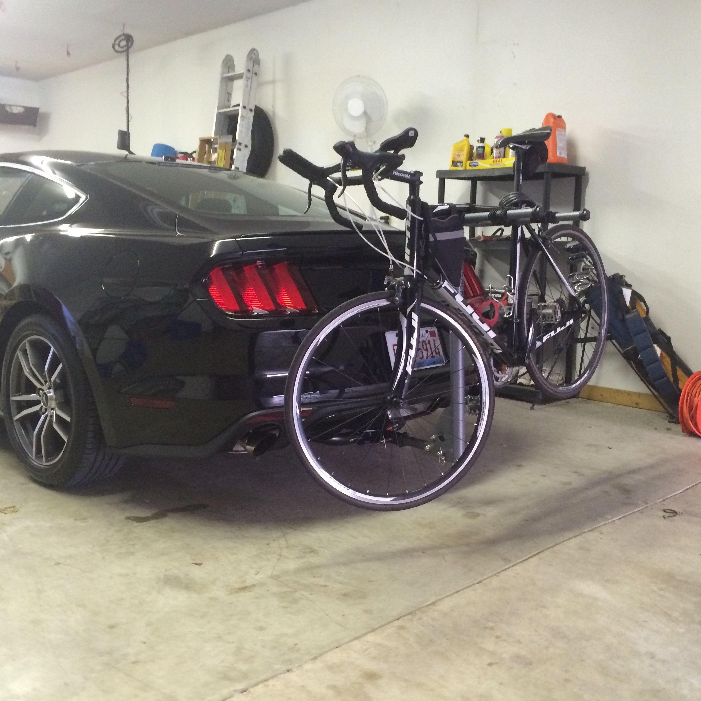 Hitch And Bike Rack Installed Ford Mustang Ecoboost Forum